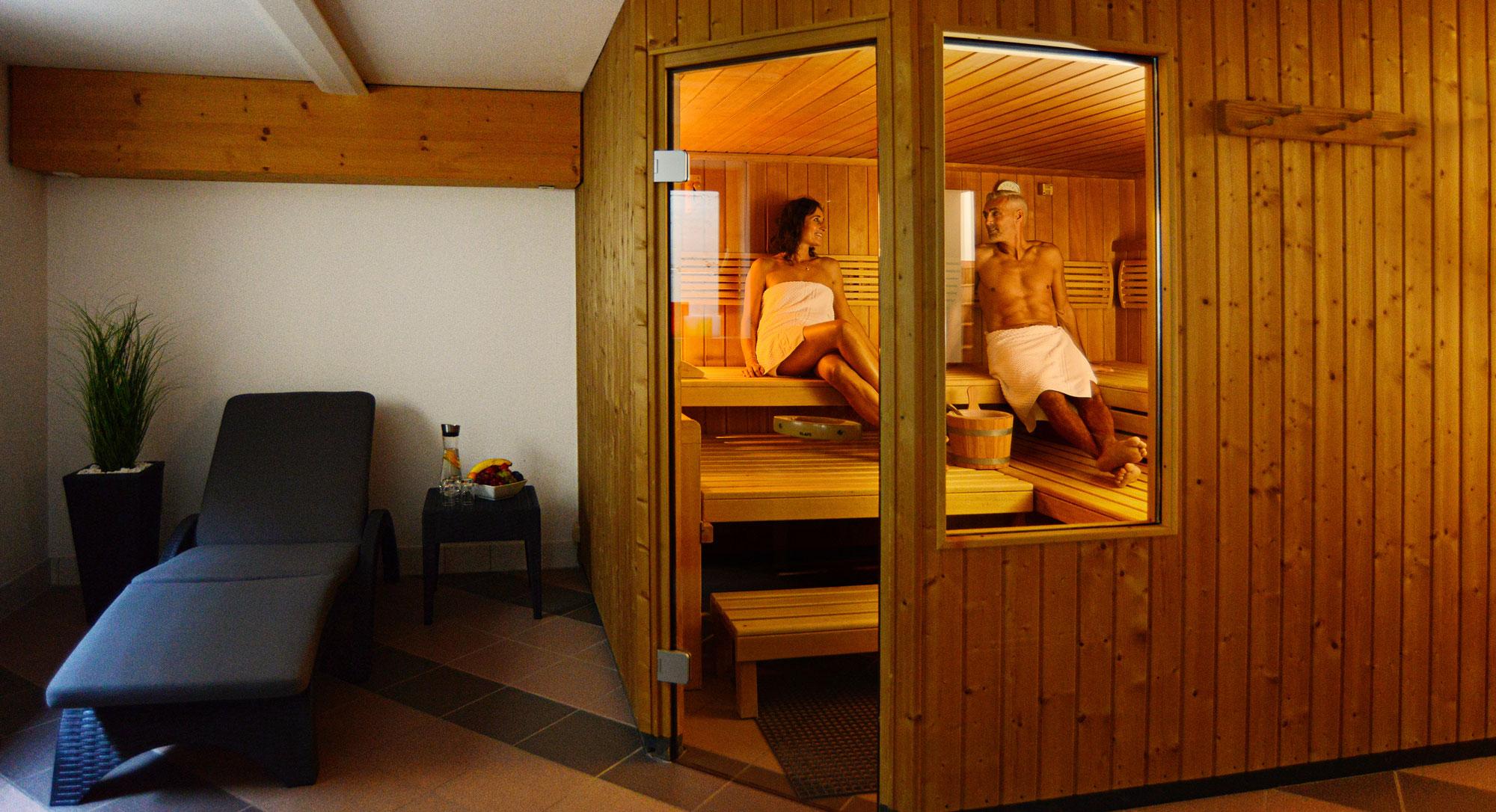 Sauna im Hotel im Weingarten